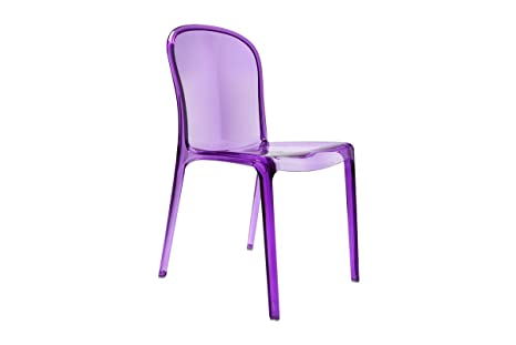 N.4 sedie policarbonato trasparente sedia replica kartell design