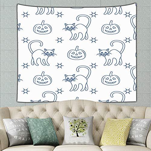 zhufeifan Halloween 2019 Pumpkins Holidays Tapestry Bohemian Tapestry Hippie Tapestry Bedroom Living Room Dorm Art Wall Hanging 50ʺ × -