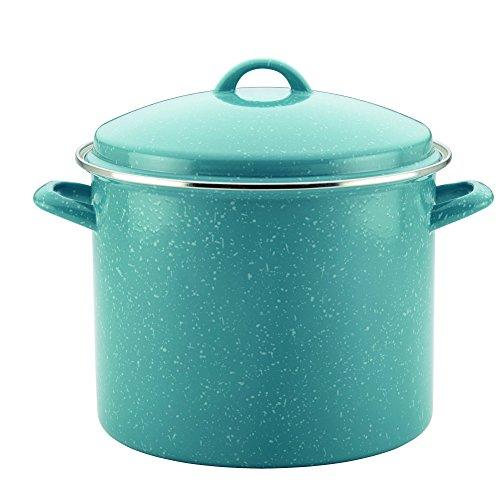 UPC 631899462572, Paula Deen Enamel on Steel Covered Stockpot, 12 quart, Gulf Blue Speckle