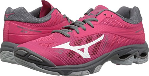 Mizuno Wave Lightning Z4 Volleyball Shoes, Azalea Pink/Charcoal Grey, Women's 7.5 B US (Apparel Azalea)