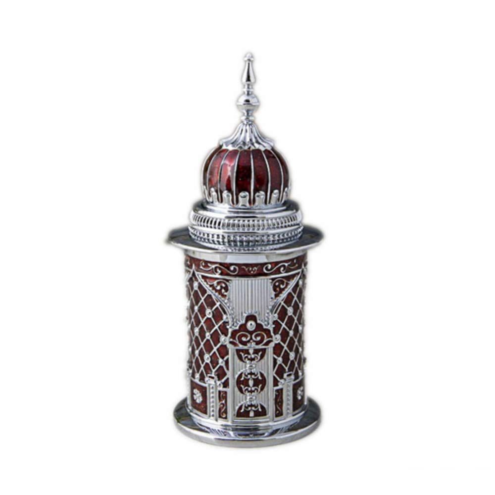 TYML Dome Castle Shape Toothpicks Holder,Pointed Shape Pressed Cover,Pressed Automatic Pop Up Metal Toothpick Dispenser,Chrome by TYML