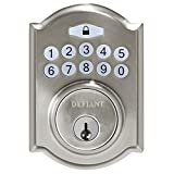 Defiant Electronic Deadbolt Single Cylinder Keyless Entry Satin Nickel