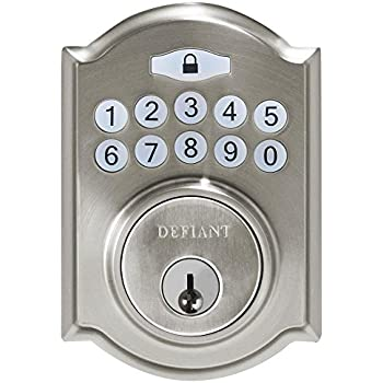 Defiant Electronic Deadbolt Single Cylinder Keyless Entry