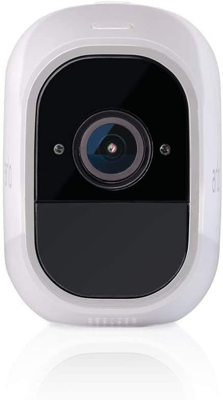 Arlo Pro 2 VMC4030P-100NAR Wireless Home Security Camera, Rechargeable, Night Vision, Indoor Outdoor, 1080p, 2-Way Audio, Wall Mount, Add-On Camera, White Renewed