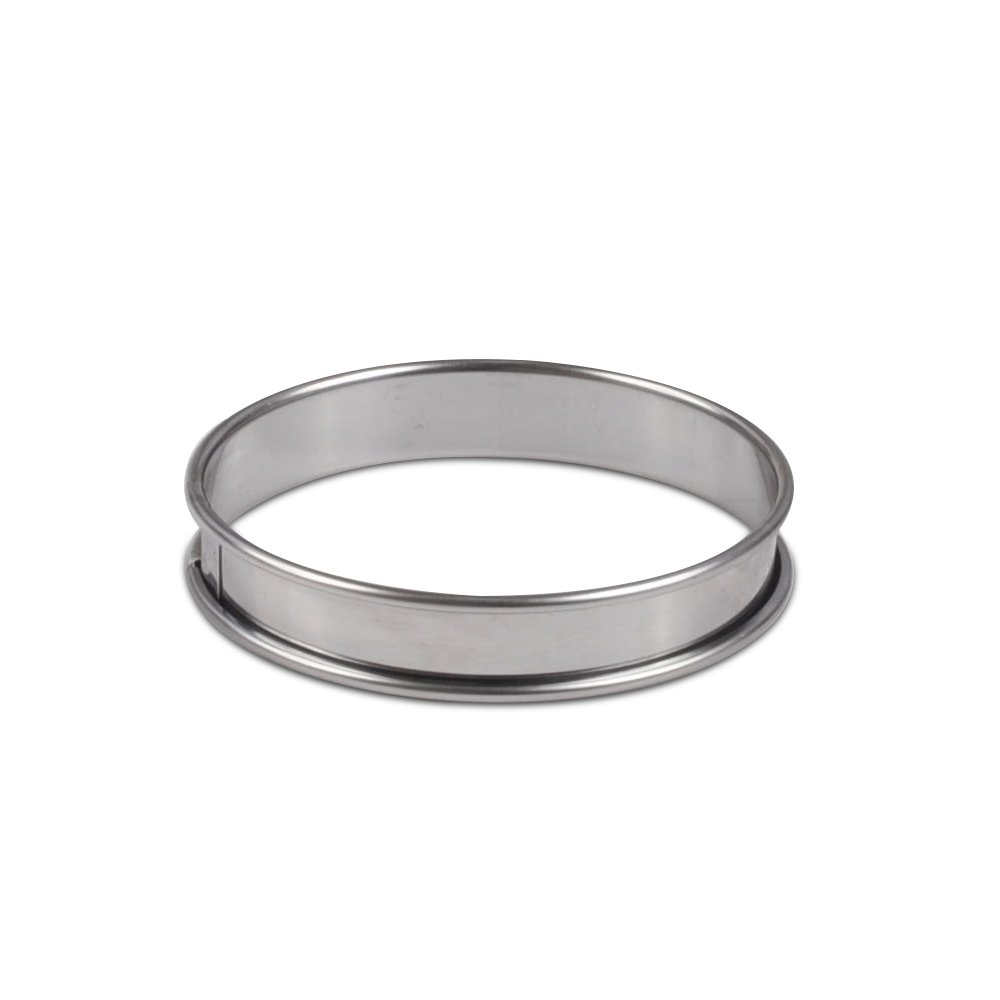 JB Prince Flan Ring - 4 inch - Stainless Steel 6 Pack