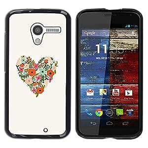 """Pulsar Snap-on Series Teléfono Carcasa Funda Case Caso para Motorola Moto X Motorola Moto X ( 1st Generation ) , La primavera florece el amor floral blanco"""""""