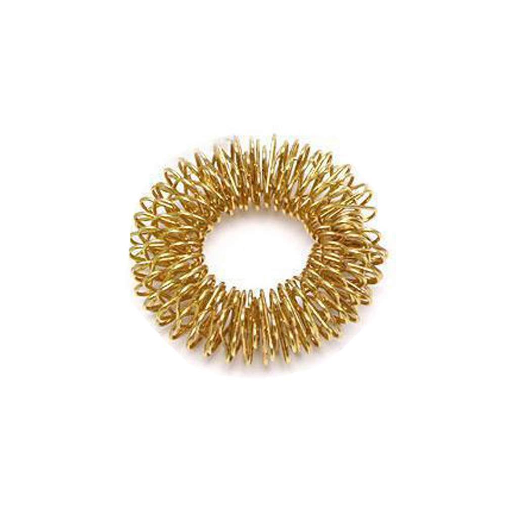 Bluelans Hand Massage Ring Men Women Wrist Band Relax Acupuncture Health Care Bracelet Personalized Bangle Golden
