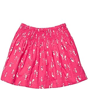 Baby Girls Pink Poplin Sophisticated Kitty Cat Skirt 2 Piece 3 Months
