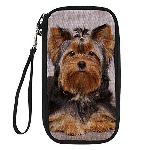 FOR U DESIGNS Travel Passport Protection Wallet Holder Credit Card Holder with Yorkshire Terrier