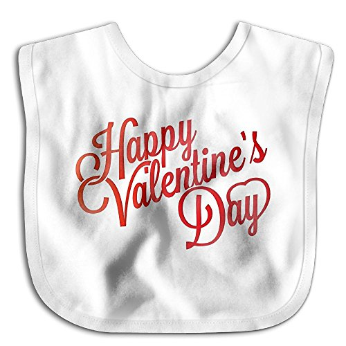 (Fonsisi Soft Bibs Happy Valentines Day Clipart Lovely Baby Boys Girls Easy Cleaning Drooler Bib White)