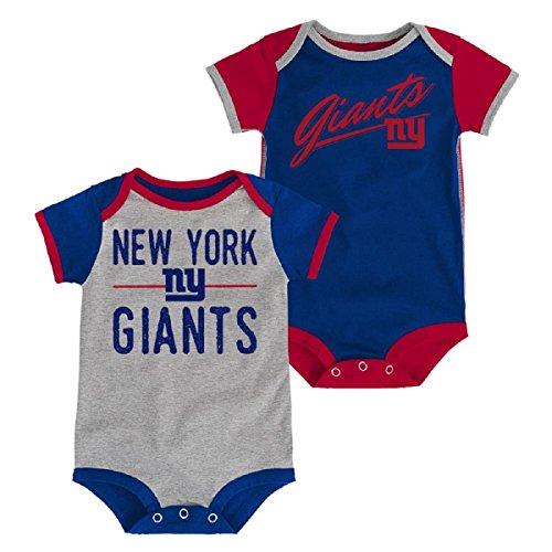 Outerstuff New York Giants Baby/Infant Descendant 2 Piece Creeper Set 6-9 Months - New York Giants 8 Piece