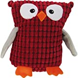 FouFou Dog Soft Spotted Owl Plushy, Red, My Pet Supplies