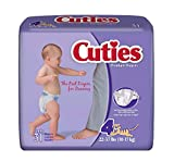 Prevail Cuties Baby Diapers Size 4, 22 - 37 lbs. [Case of 124]
