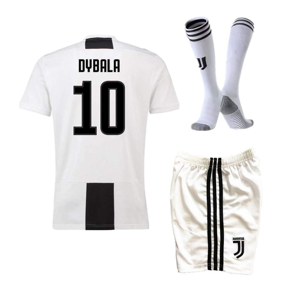 e40c7a8c4 18 19 Season Dybala  10 Juventus Home Kids Youth Soccer Jersey   Shorts    Socks White