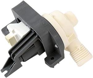 Whirlpool W10876600 Washer Drain Pump, Black and White