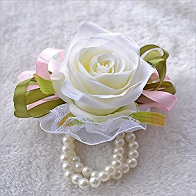 Wedding Wrist Flowers Artificial Rose for Bridal Bridesmaids