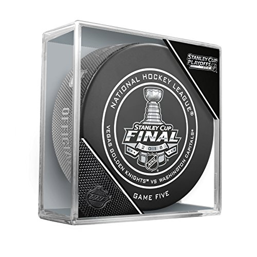 2018 Stanley Cup Final Vegas Golden Knights vs Washington Capitals Game Five Game Hockey Puck W/Cube