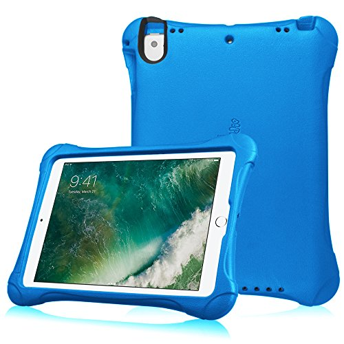 Fintie Case for Apple iPad 9.7 2018 2017 / iPad Pro 9.7 / iPad Air 2 / iPad Air - Light Weight Shock Proof Impact Resistant Bumper Kids Friendly Protective Cover, Blue
