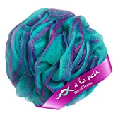 À La Paix Loofah Bath Sponge Body Scrubber Pouf -Loofa Luffa Loufa Shower Puff-Lufa Sponge Scrunchie for Beauty Bathing, XL 70g (Set-3 Tropical colors)