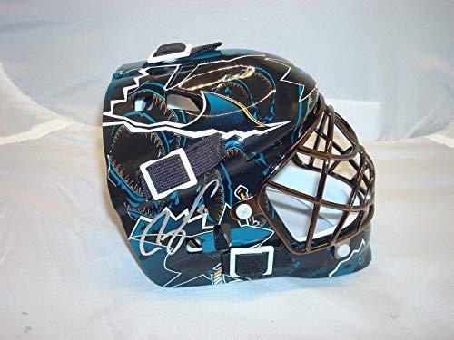 (Martin Jones Signed San Jose Sharks Mini Goalie Mask Autographed Beckett COA 1A - Beckett Authentication)