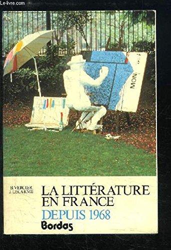 La littérature en France depuis 1968