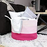 OrganiHaus 3-Toned Cotton Rope Storage Baskets for