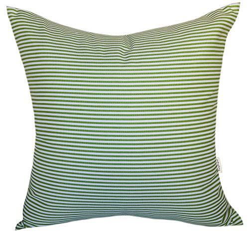 - TangDepot Decorative Handmade Stripe Cotton Throw Pillow Cover, Pillow Sham, Euro sham, Indoor/Outdoor Square Cushion Cover - (16