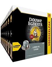 Douwe Egberts Koffiecups Lungo Sterk Voordeelverpakking (200 Koffie Capsules, Geschikt voor Nespresso* Koffiemachines, Intensiteit 10/12, UTZ Gecertificeerd), 10 x 20 Cups 104.00 g
