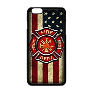 """Generic Custom Unique Otterbox You Deserve--American Flag Firefighter Emblem in Flames Fire Rescue Symbol Plastic Case Cover for the iPhone6 Plus 5.5"""" by mcsharks"""