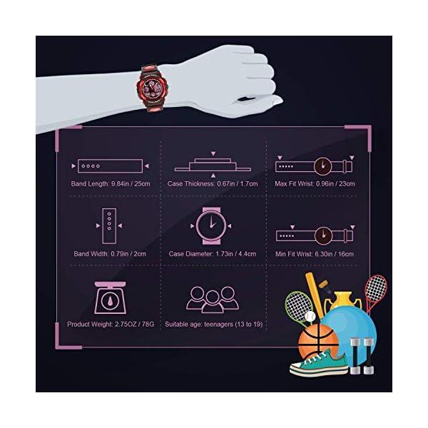 Kids Digital Sport Watch, Boys Girls Waterproof Sports Outdoor Watches Children Casual Electronic Analog Quartz Wrist Watches with Alarm Stopwatch