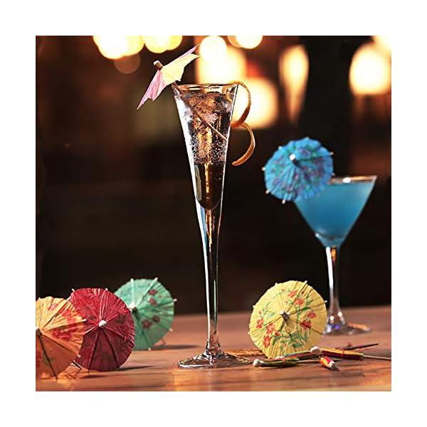 Siumir Ombrelli da Cocktail Mini Cocktail Parasols Accessori Decorazione di Bevande e Frutta 144 pcs 4 spesavip