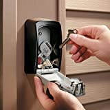 Wall-mounted combination key box/key safe, grey/black for sharing your keys securely. Bild 5