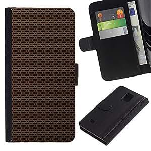 KingStore / Leather Etui en cuir / Samsung Galaxy Note 4 IV / Simple textura