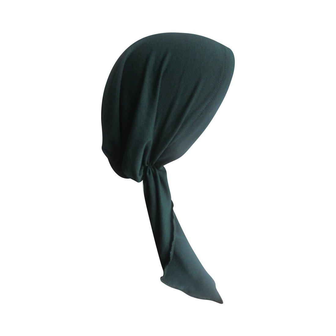 Dark Heather Grey Pretied Chemo Cap for Women Soft Cancer Scarf Landana Headscarves ldpt-solid-dkheathergrey
