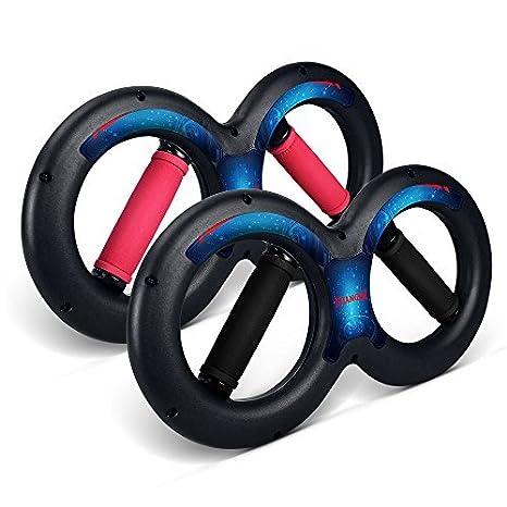 Kuangmi Sport-a Forma di 8 da Polso e avambraccio dinamico per la Forza di trazione Body Building per Allenamento Muscoli lCrossfit