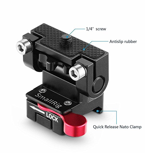 SMALLRIG Field Monitor Holder Mount with Quick Release NATO Clamp - 2100