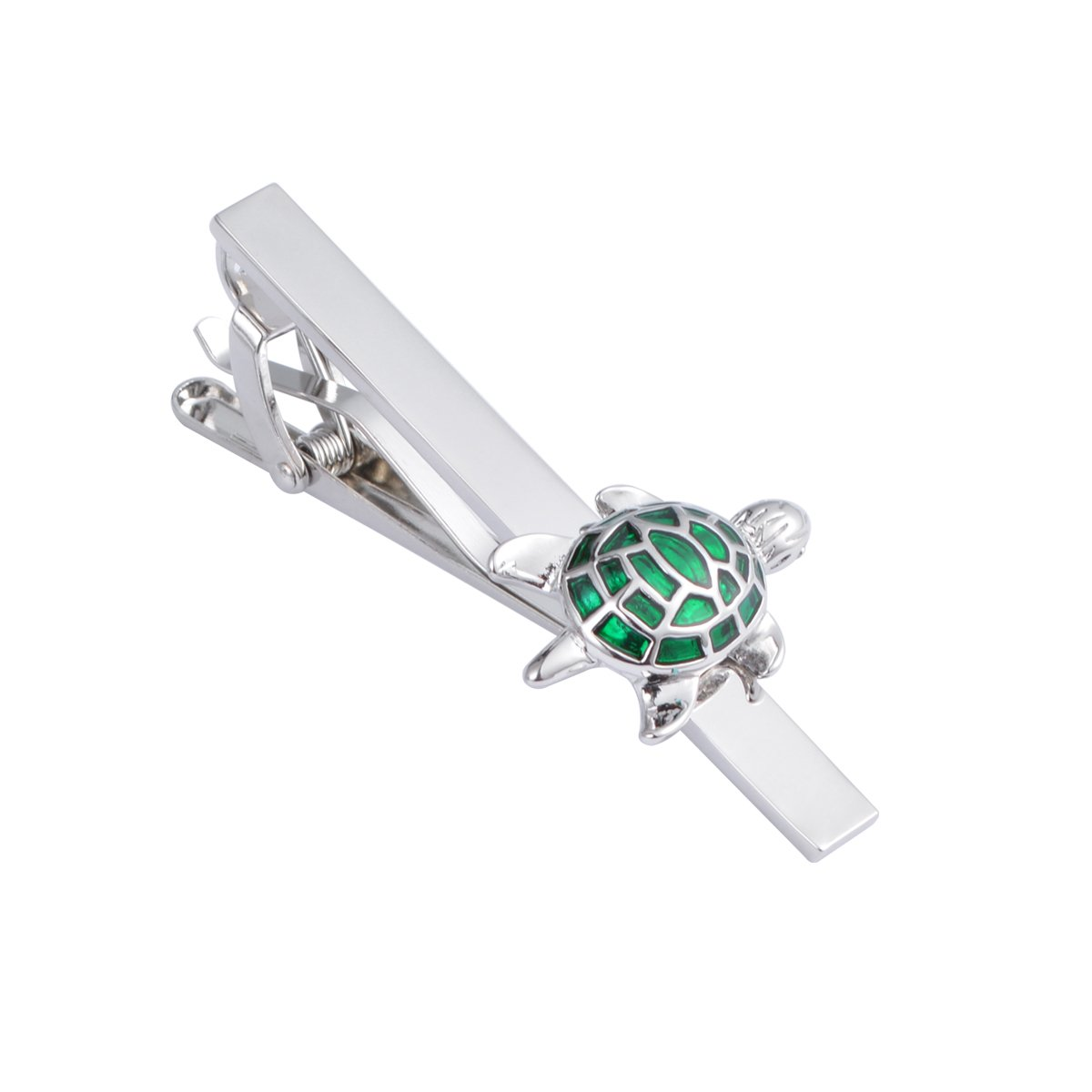 JAOPNZA Classic Cute Turtle Tie Clip Personalized Men's Tie Bar Clip Gift Set,Green