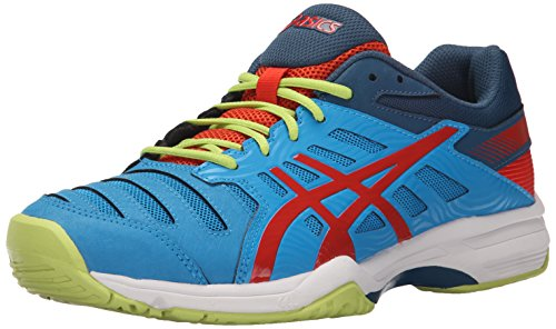 ASICS Men's Gel-Solution Slam 3 Tennis Shoe Methyl Blue/Orange/Lime 11.5 M US