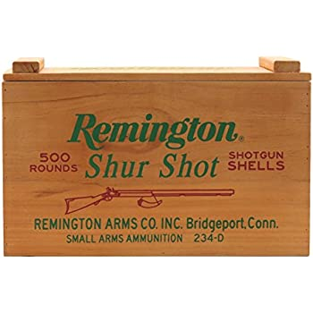 Open Road Brands Vintage Retro Metal Tin Sign Remington Shur Shot Wood Ammo Box Great For Man Caves Garage Art Shed And Home Decor