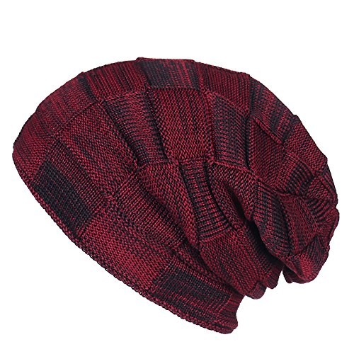macho cáñamo invierno beanie de ceniza doble Sombrero Luz engrosada cálido hembra MASTER sombreros Sombrero Red Navidad invierno Halloween punto Hat gorro de de 0cFwz