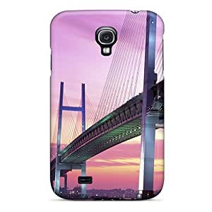 Cool Hard Plastic Galaxy S4 Case Back Cover,hot Yokohama Bay Bridge Japan Case At Perfect Diy
