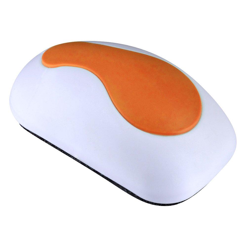 Magnetic Eraser Brosse Effaceurs Magnétique Tableau Blanc pour Effaçables à Sec Stylos et Marqueurs, 4.72 x 2.36 x 1.57 Pouces (Orange)