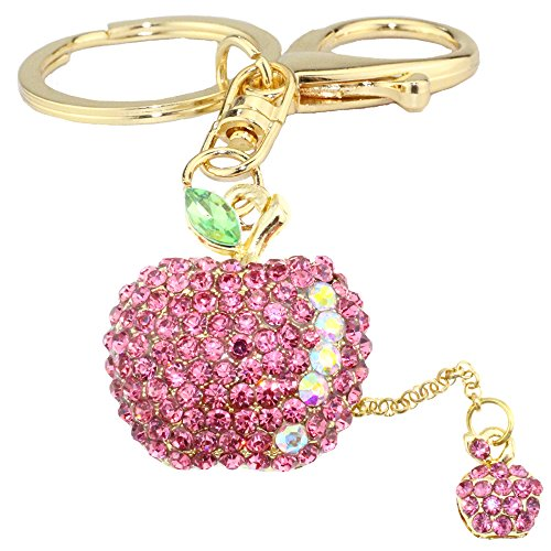pink Reasonable Cute Turtle Keychain Sparkling Keyring Blingbling Crystal Rhinestones Purse Pendant Handbag Decoration Holiday Gift Interior Accessories