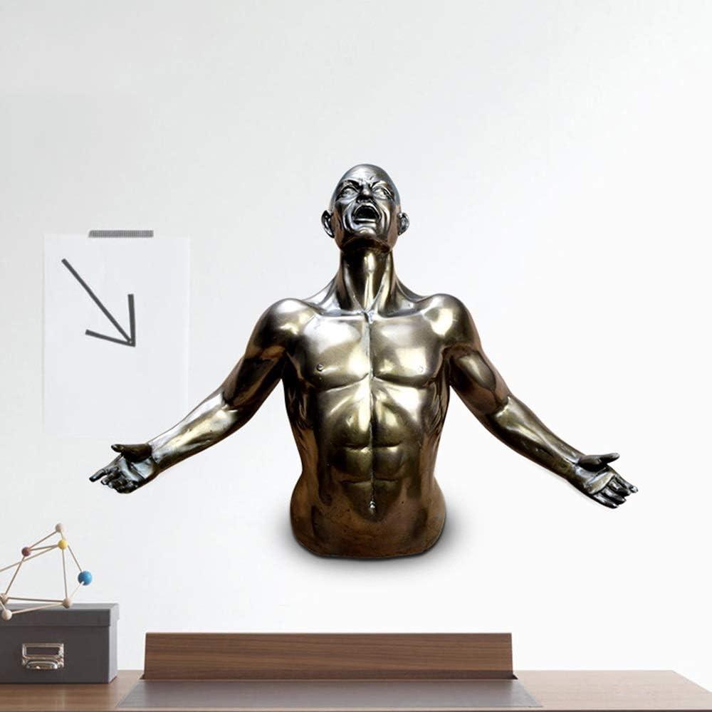 DAMAI STORE Figura Colgante Estatua De Resina De La Artesanía Moderna Y Simple Creativa Oficina En Casa Decoraciones Adornos Habitación Art Hotel (19.5 * 28 * 9cm)