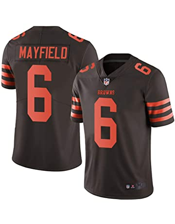 f5c3f6d8355fe Men s Cleveland Browns  6 Baker Mayfield Brown Embroidered Name   Number  Jersey