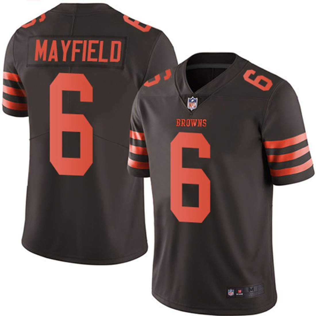 pretty nice 40f6c 01b17 Men's Cleveland Browns #6 Baker Mayfield Brown Embroidered Name & Number  Jersey