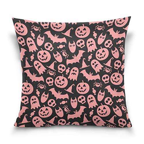 Terstin Jack O' Lantern Pumpkin Halloween Costume Pillow Case,Spooky Halloween Graphic,Sofa Bed Home Decor Cushion Cover -