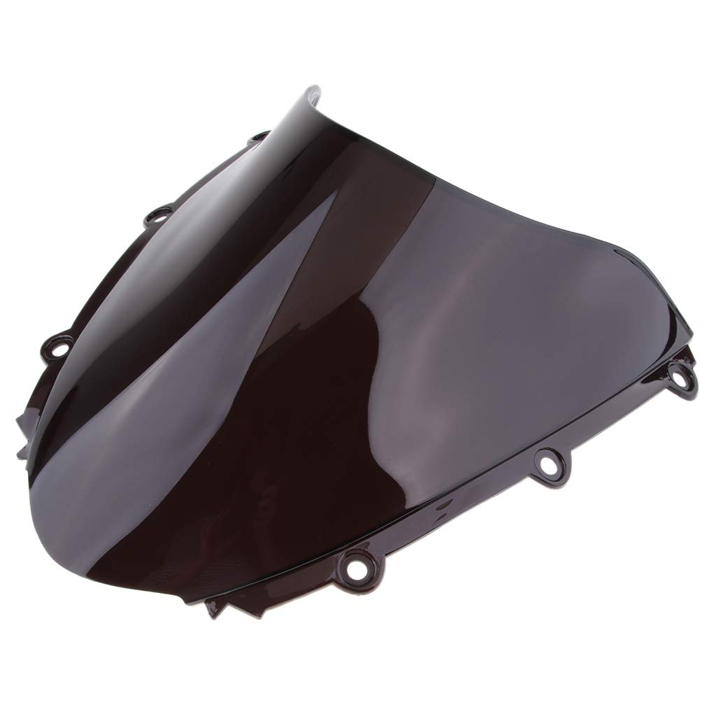 perfk Black Clear Color Windshield Windscreen for Honda CBR1000RR 2004-2007 Wind Deflector Black