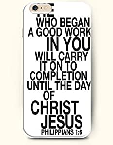 iPhone Case,OOFIT iPhone 6 (4.7) Hard Case **NEW** Case with the Design of He who began a good work in you will carry it on to completion until the day of christ Jesus Philippians 1:6 - Case for Apple iPhone iPhone 6 (4.7) (2014) Verizon, AT&T Sprint, T-mobile