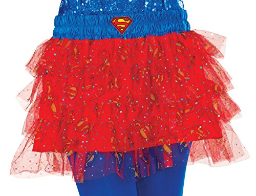 [Rubie's Women's Dc Comics Supergirl Skirt with Blue Waistband, Multi, One Size] (Sexy Super Girl Costumes)